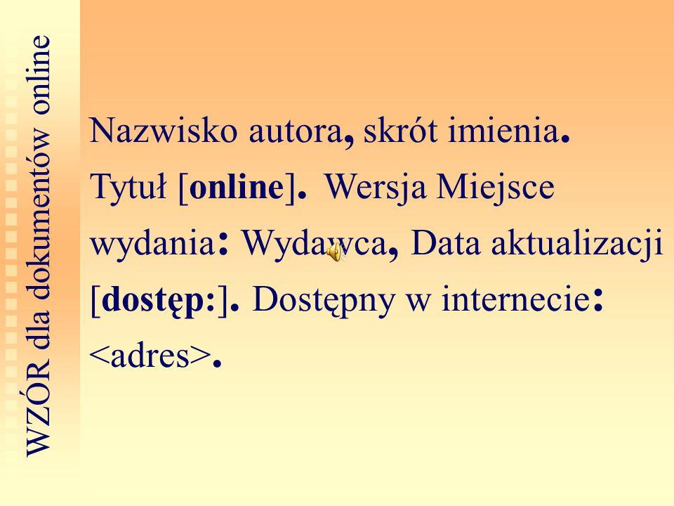 WZÓR dla dokumentów online
