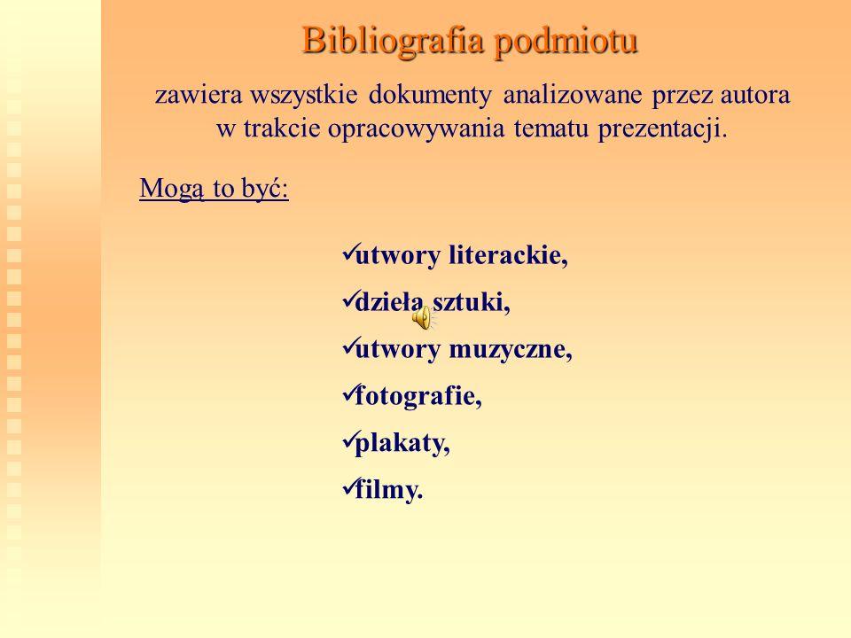 Bibliografia podmiotu
