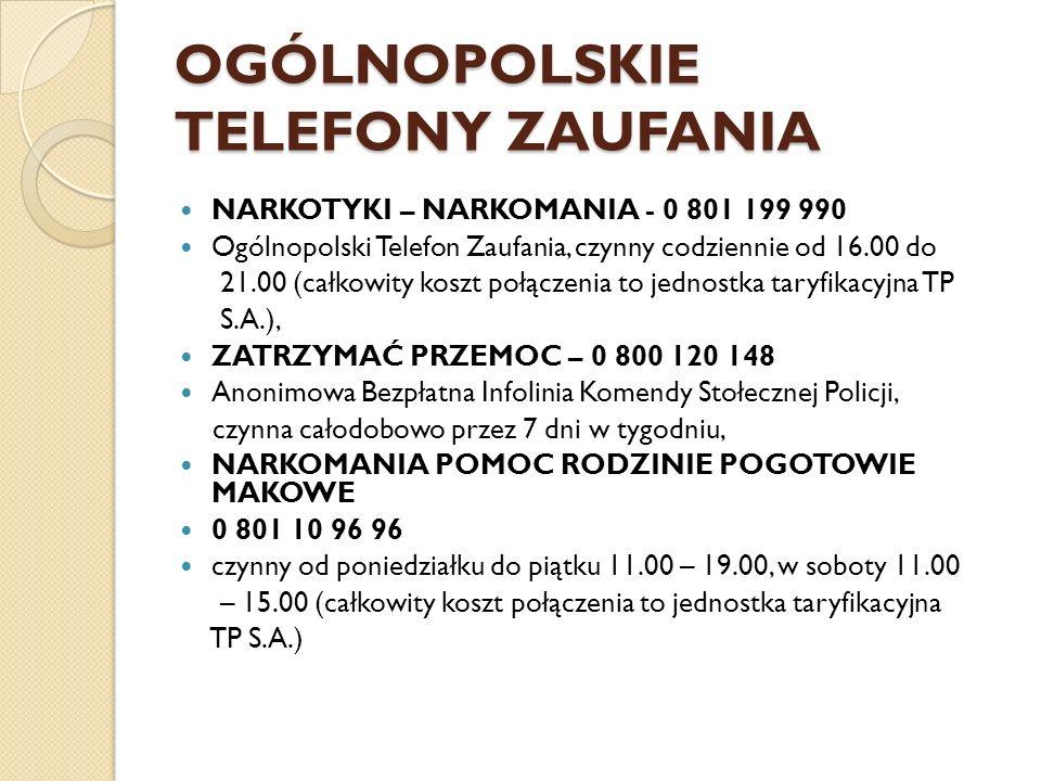OGÓLNOPOLSKIE TELEFONY ZAUFANIA