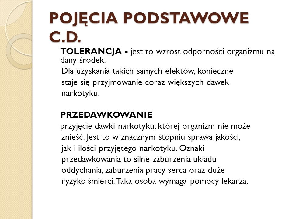 POJĘCIA PODSTAWOWE C.D.