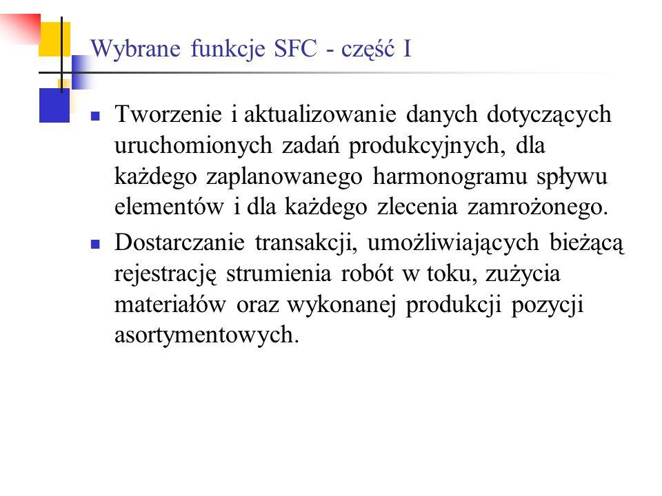 Wybrane funkcje SFC - część I