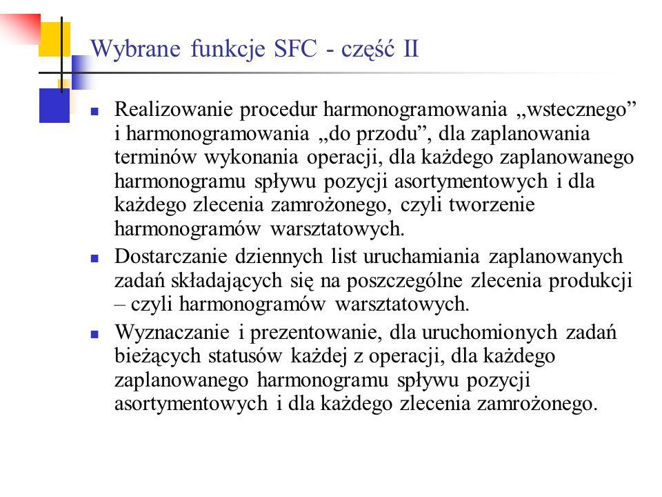 Wybrane funkcje SFC - część II