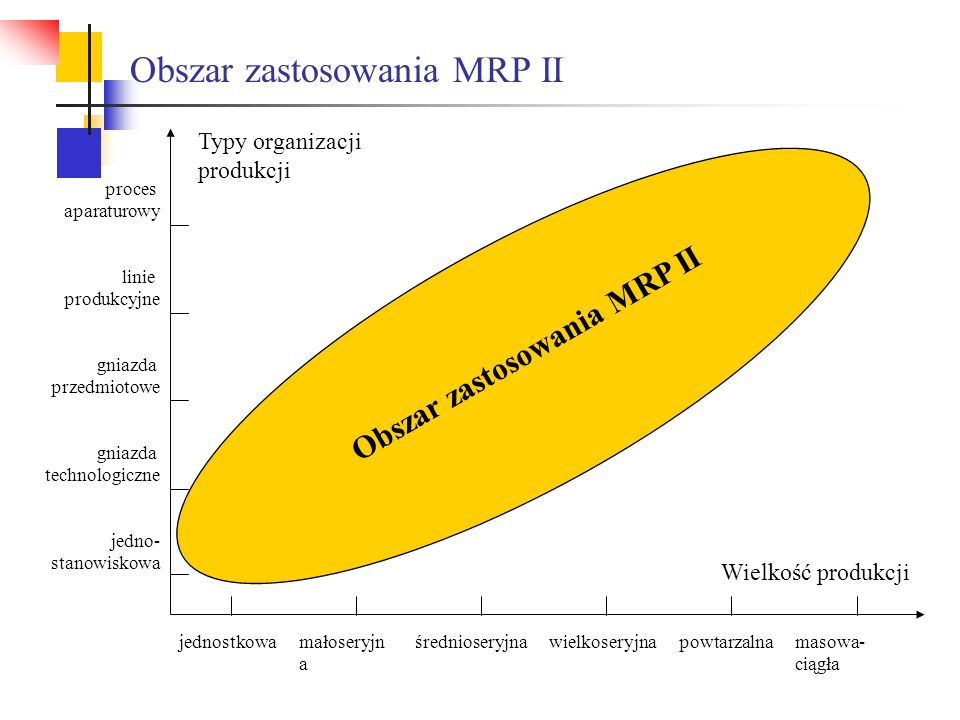 Obszar zastosowania MRP II