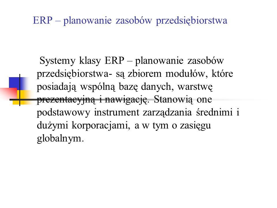 ERP – planowanie zasobów przedsiębiorstwa