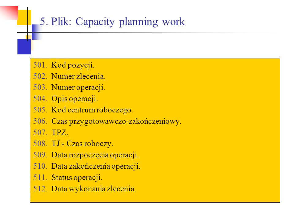 5. Plik: Capacity planning work