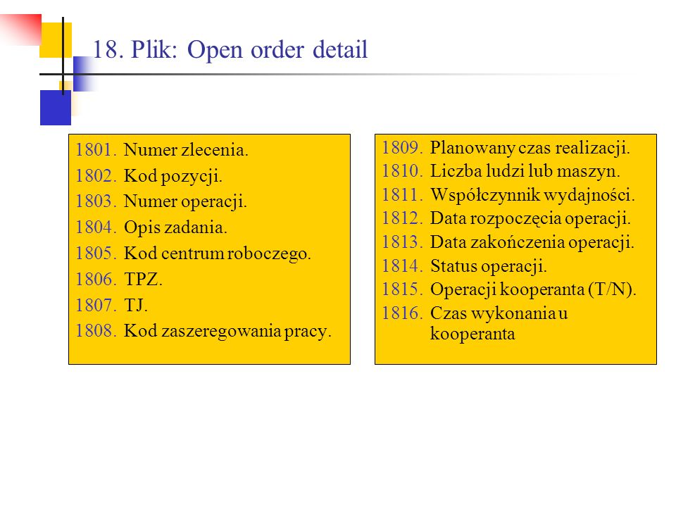 18. Plik: Open order detail