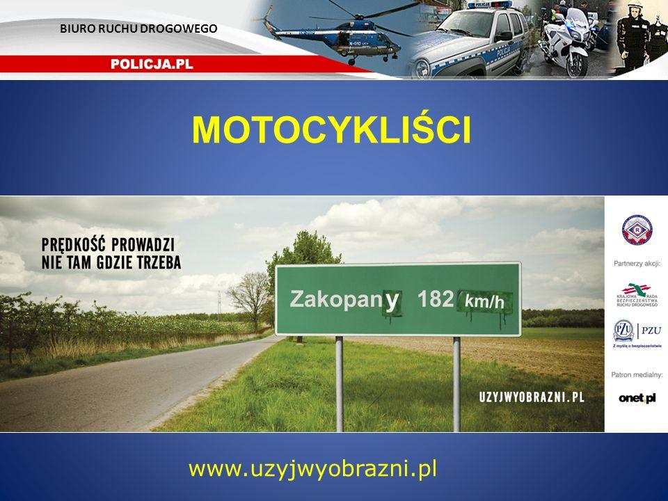 BIURO RUCHU DROGOWEGO MOTOCYKLIŚCI www.uzyjwyobrazni.pl 15