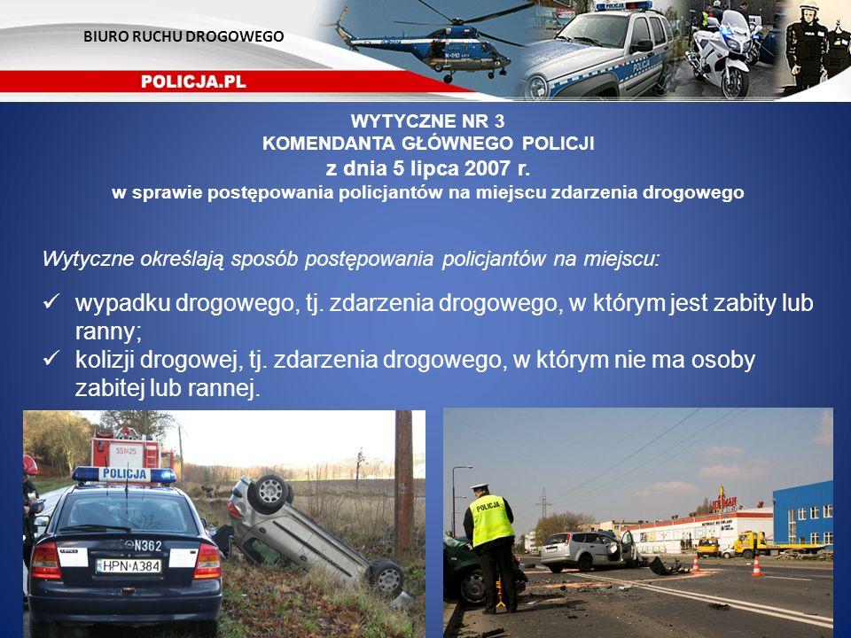 BIURO RUCHU DROGOWEGO WYTYCZNE NR 3. KOMENDANTA GŁÓWNEGO POLICJI. z dnia 5 lipca 2007 r.