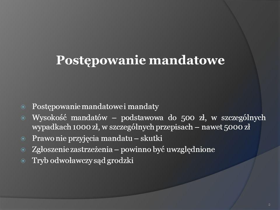 Postępowanie mandatowe