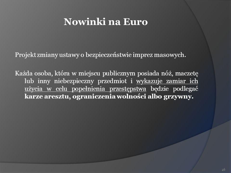 Nowinki na Euro