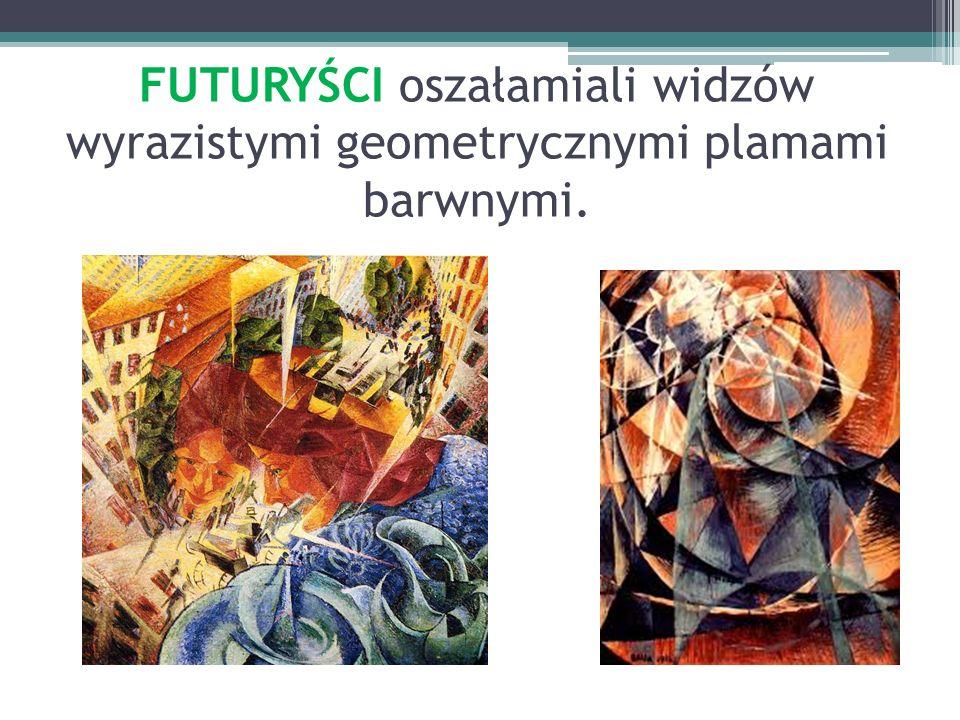 FUTURYŚCI oszałamiali widzów wyrazistymi geometrycznymi plamami barwnymi.