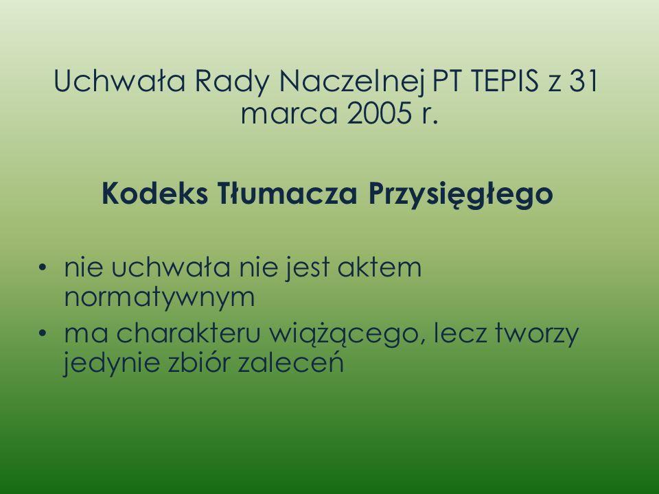 Kodeks Tłumacza Przysięgłego