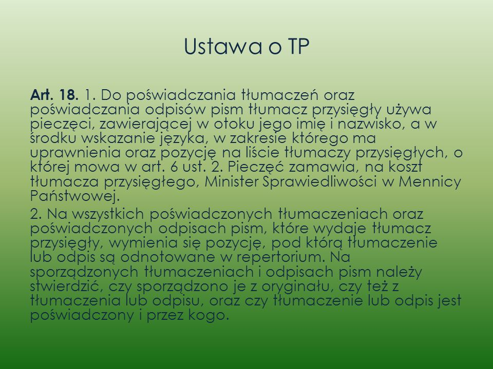 Ustawa o TP