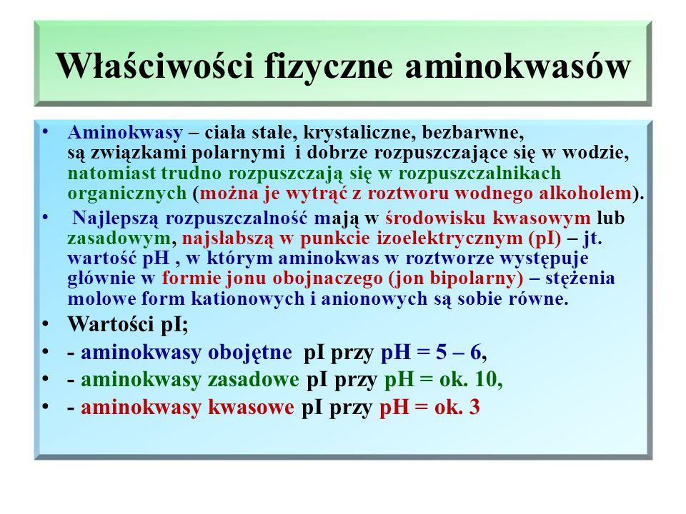 Właściwości fizyczne aminokwasów