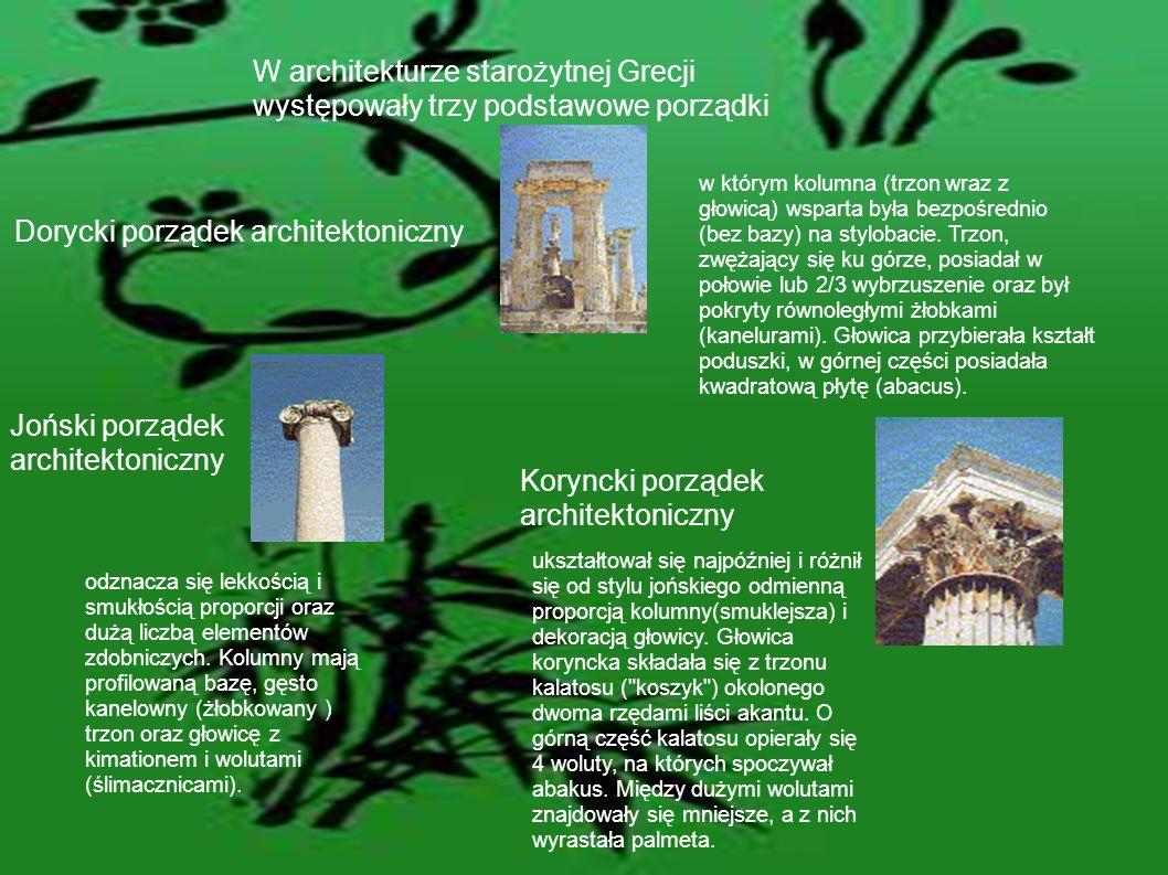 W architekturze starożytnej Grecji