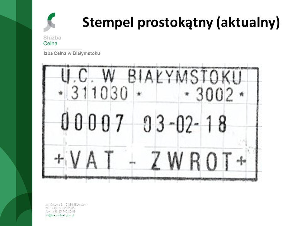 Stempel prostokątny (aktualny)