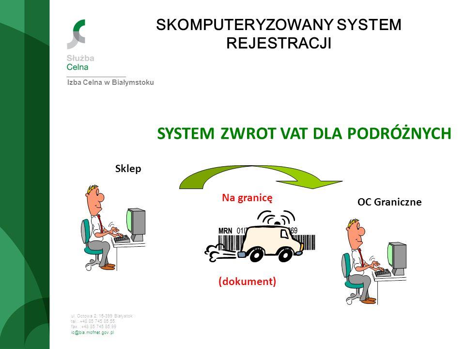SKOMPUTERYZOWANY SYSTEM REJESTRACJI SYSTEM ZWROT VAT DLA PODRÓŻNYCH