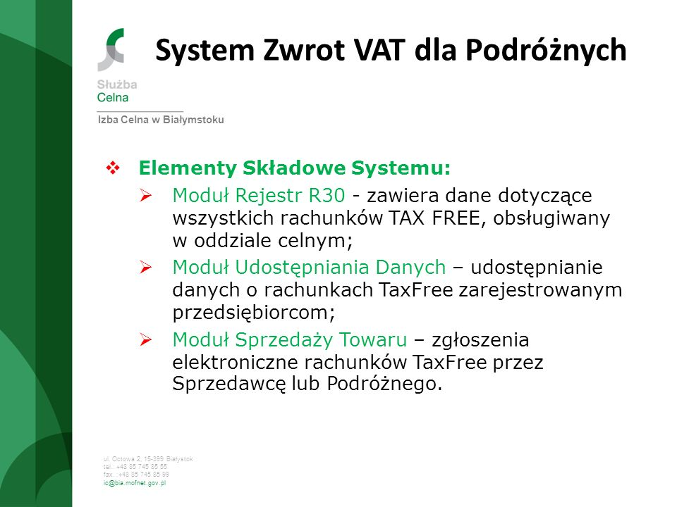 System Zwrot VAT dla Podróżnych
