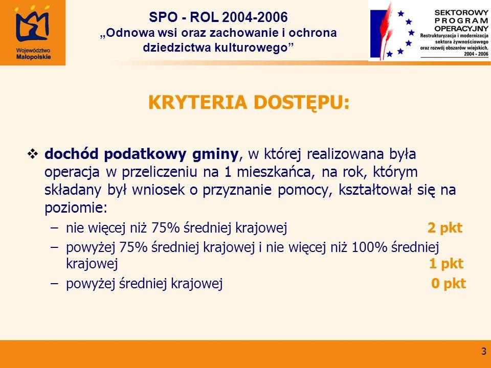"""SPO - ROL 2004-2006 """"Odnowa wsi oraz zachowanie i ochrona dziedzictwa kulturowego"""