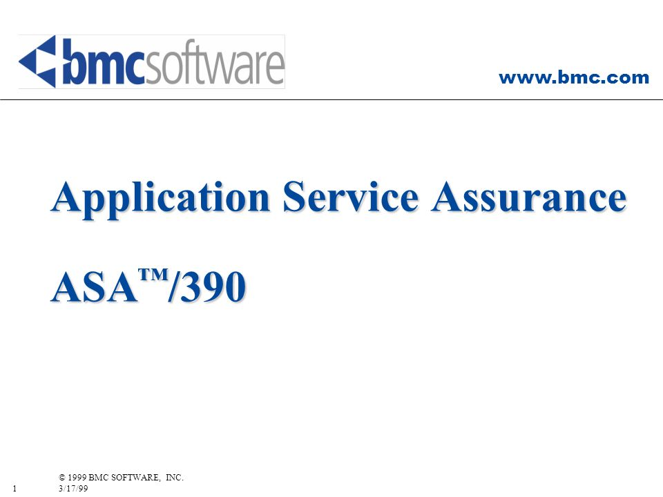 Application Service Assurance ASA™/390