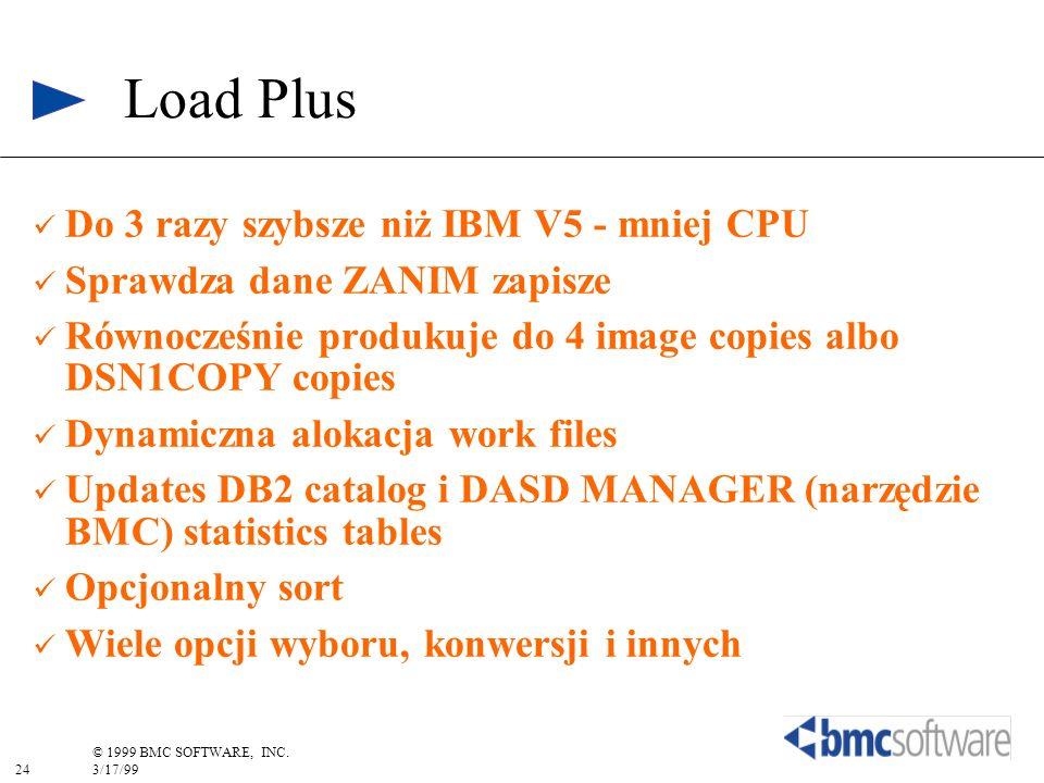 Load Plus Do 3 razy szybsze niż IBM V5 - mniej CPU