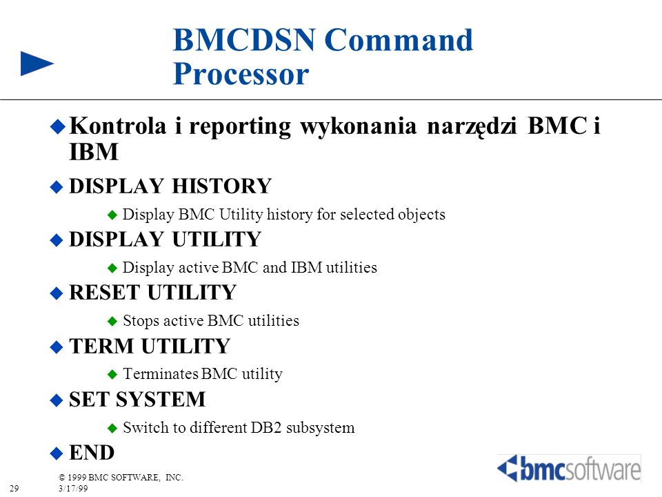 BMCDSN Command Processor