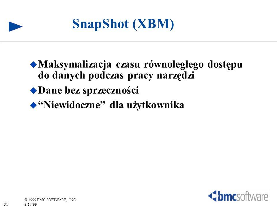 SnapShot (XBM) Maksymalizacja czasu równoległego dostępu do danych podczas pracy narzędzi. Dane bez sprzeczności.