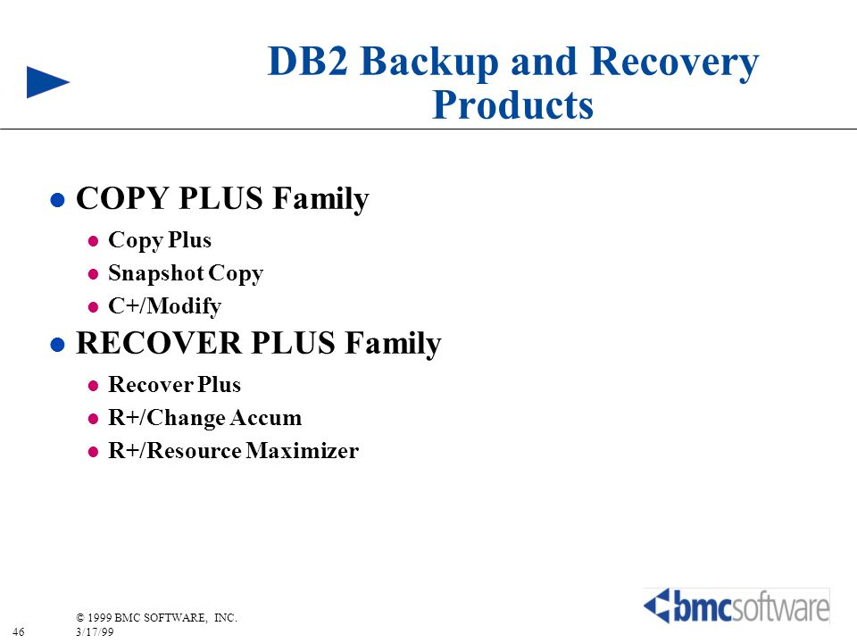 DB2 Backup and Recovery Products