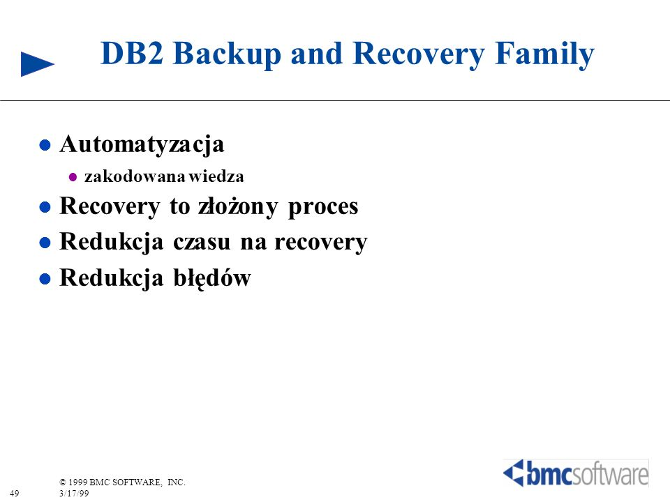 DB2 Backup and Recovery Family
