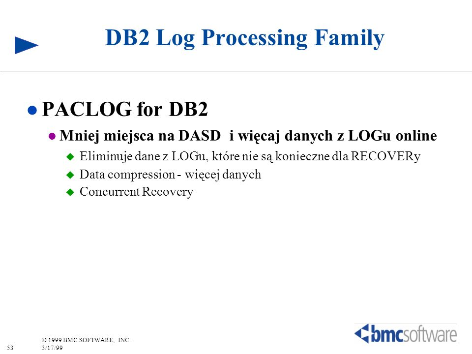 DB2 Log Processing Family