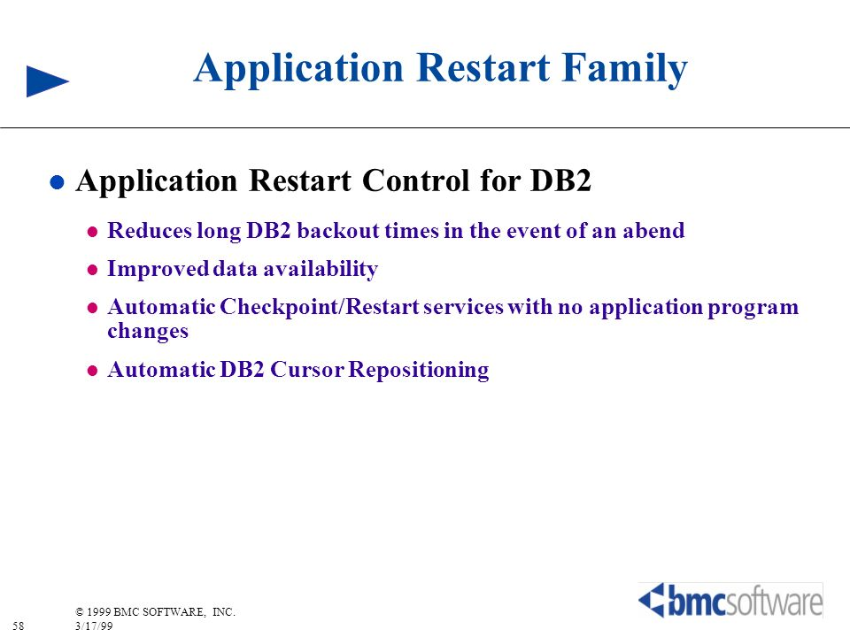 Application Restart Family