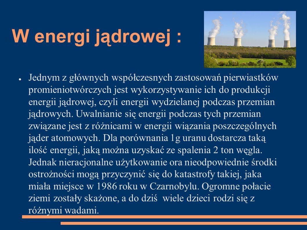 W energi jądrowej :