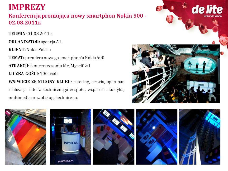 IMPREZY Konferencja promująca nowy smartphon Nokia 500 - 02.08.2011r.