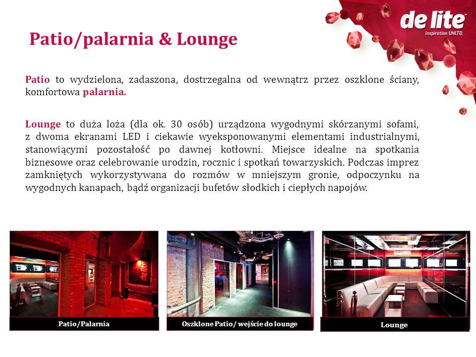 Oszklone Patio/ wejście do lounge