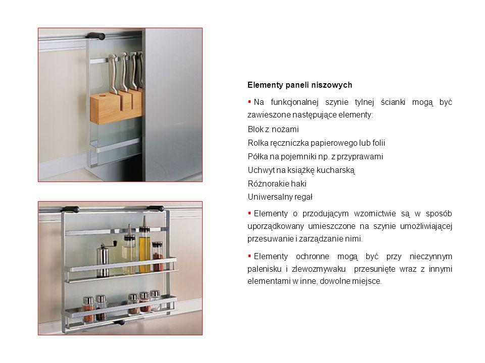 Elementy paneli niszowych