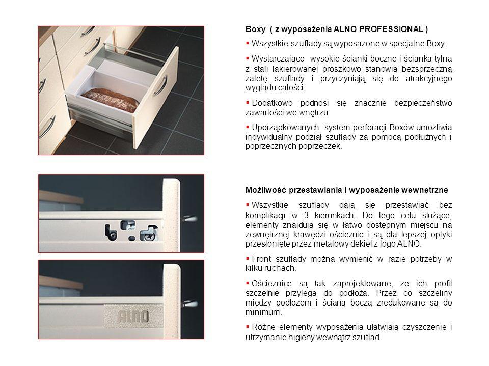 Boxy ( z wyposażenia ALNO PROFESSIONAL )