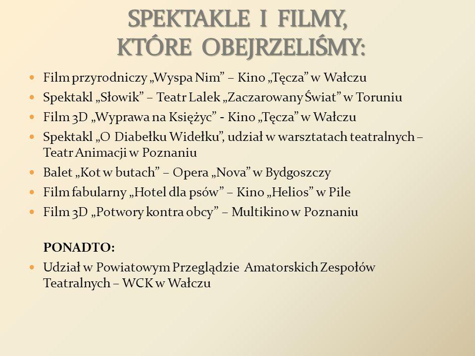 SPEKTAKLE I FILMY, KTÓRE OBEJRZELIŚMY: