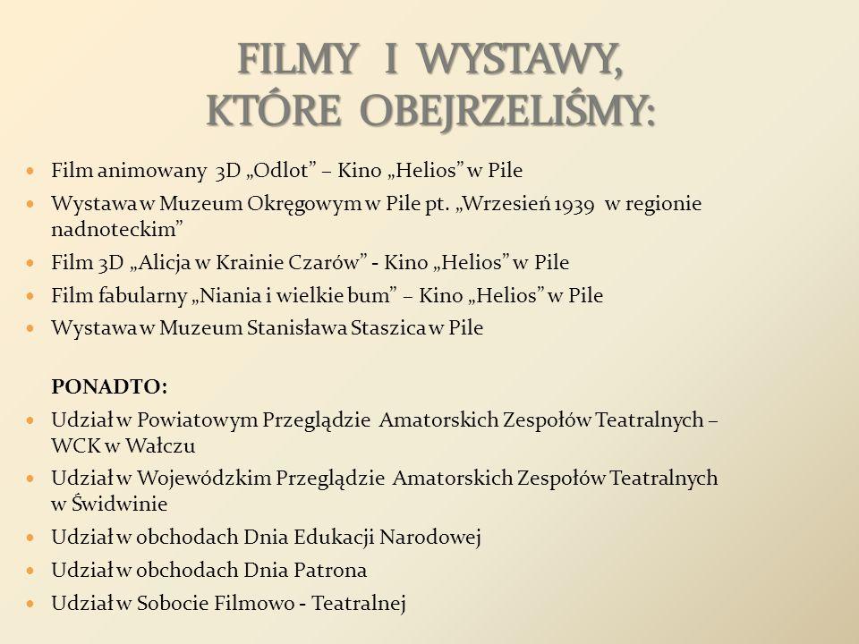 FILMY I WYSTAWY, KTÓRE OBEJRZELIŚMY: