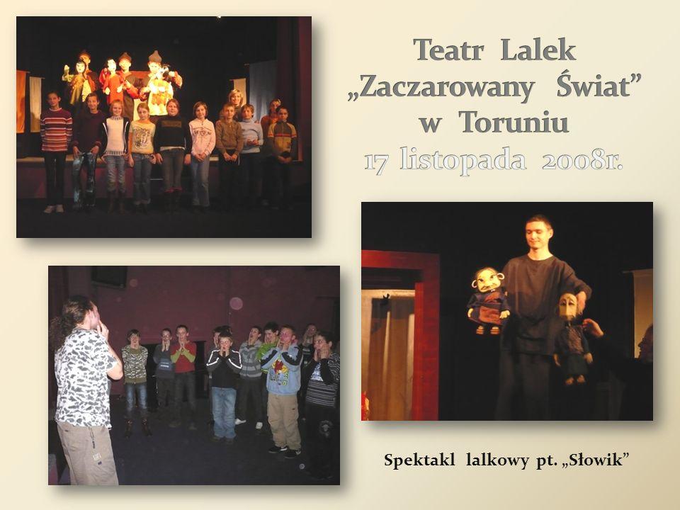 """Teatr Lalek """"Zaczarowany Świat w Toruniu 17 listopada 2008r."""