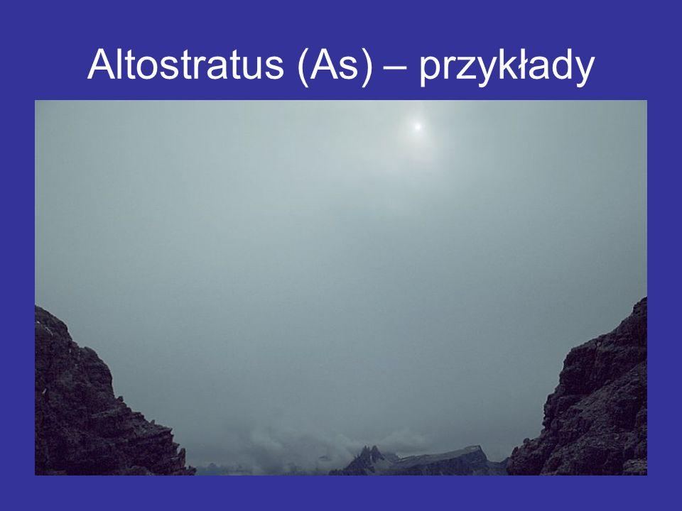 Altostratus (As) – przykłady