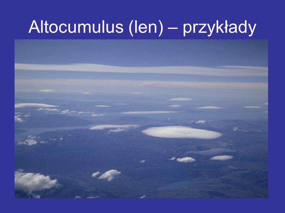 Altocumulus (len) – przykłady