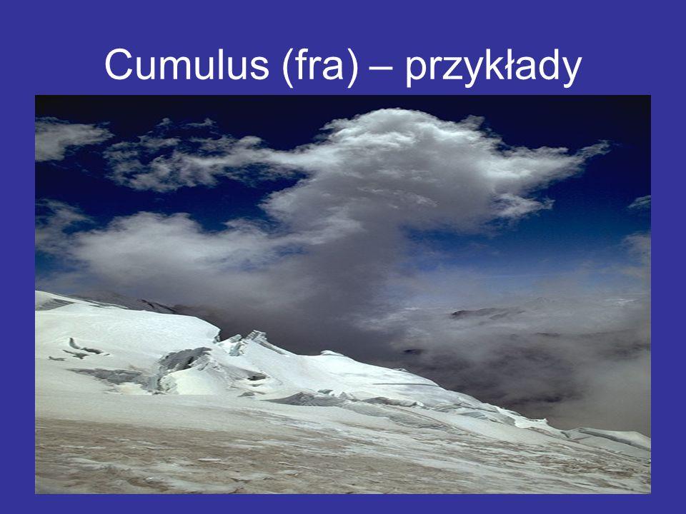 Cumulus (fra) – przykłady