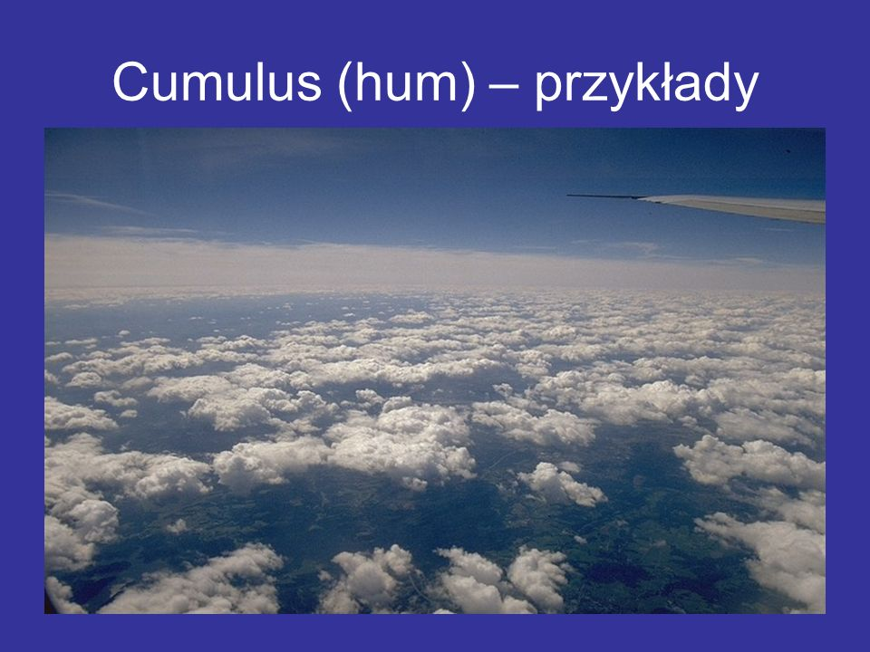 Cumulus (hum) – przykłady