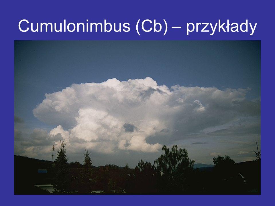 Cumulonimbus (Cb) – przykłady