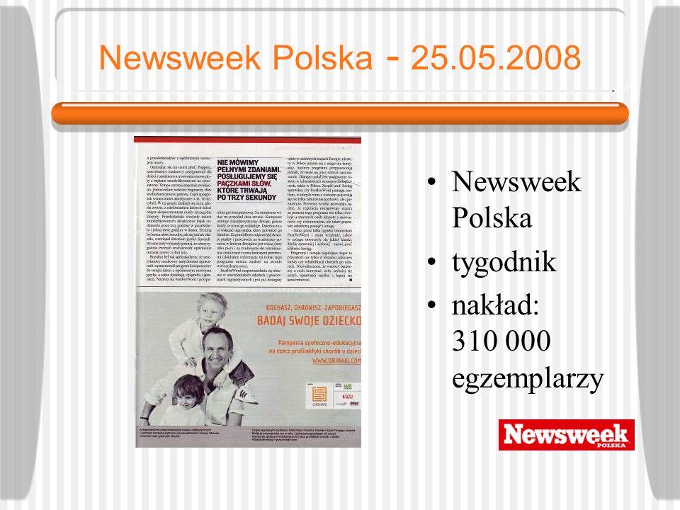Newsweek Polska - 25.05.2008 Newsweek Polska tygodnik