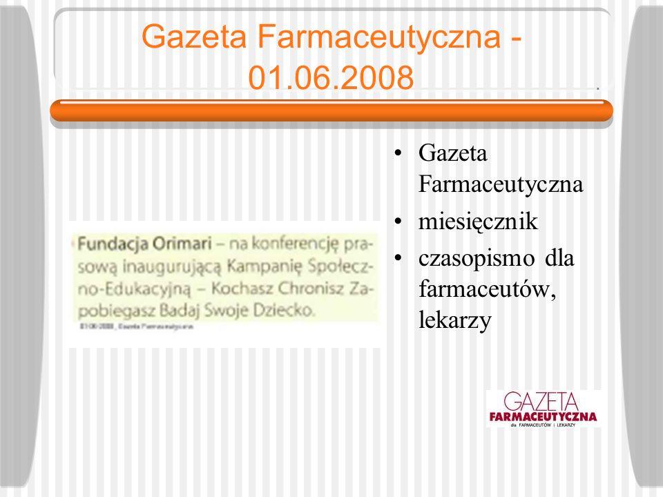 Gazeta Farmaceutyczna - 01.06.2008
