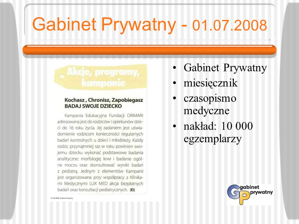 Gabinet Prywatny - 01.07.2008 Gabinet Prywatny miesięcznik