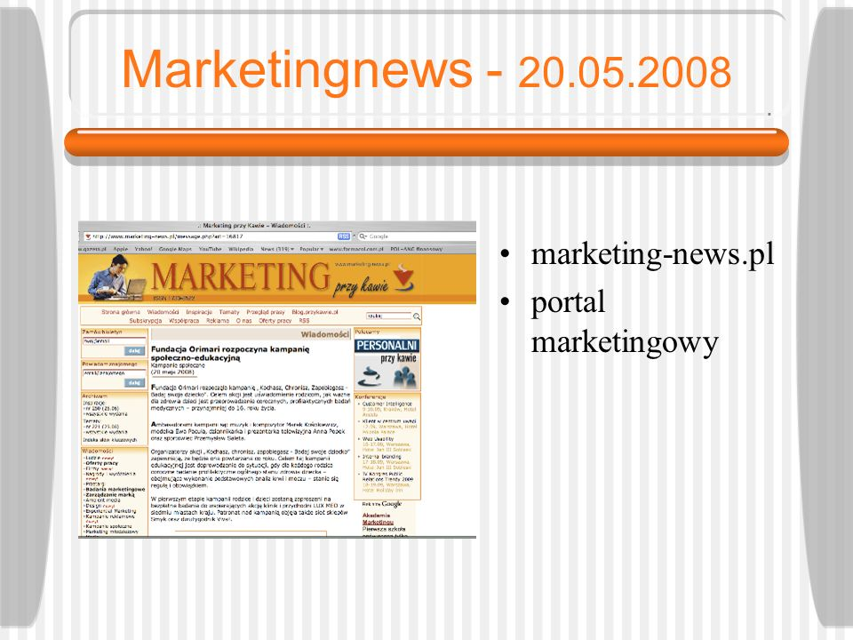 Marketingnews - 20.05.2008 marketing-news.pl portal marketingowy