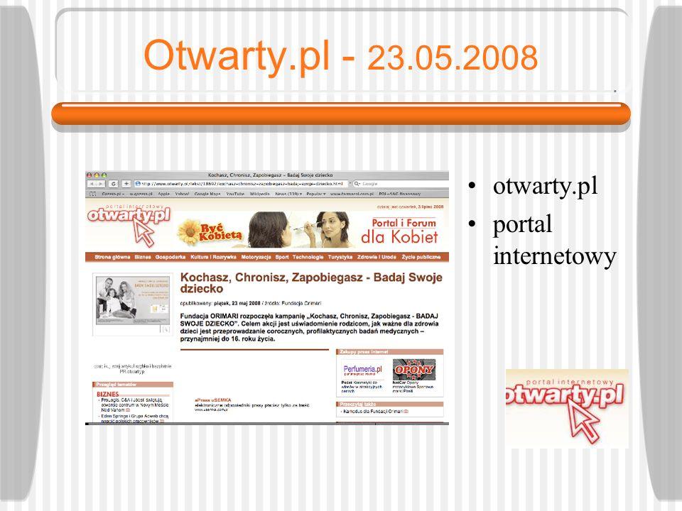 Otwarty.pl - 23.05.2008 otwarty.pl portal internetowy