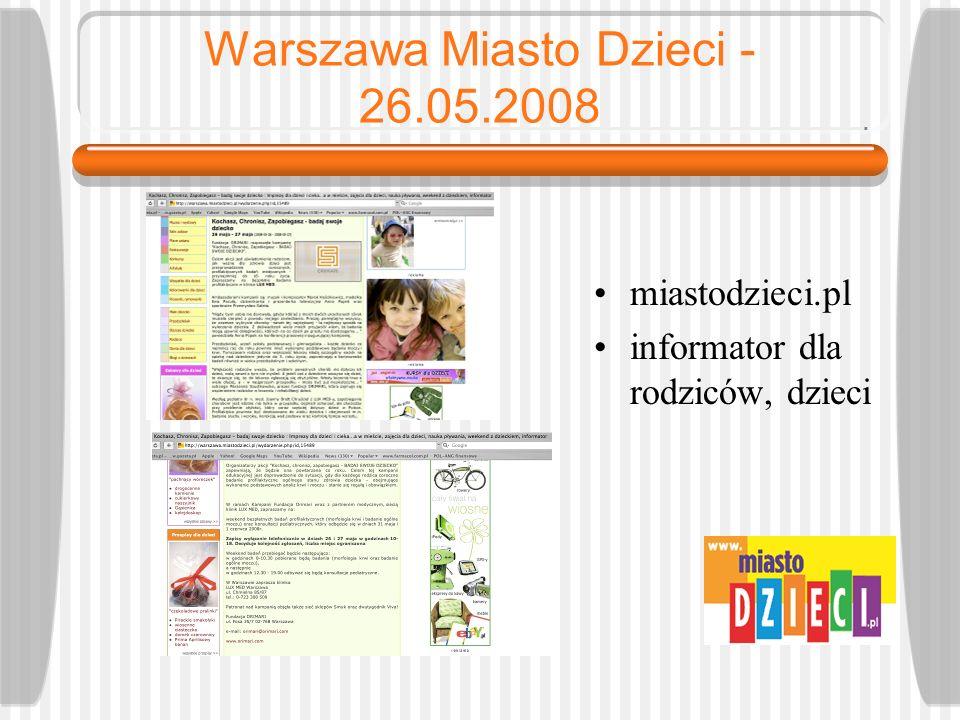 Warszawa Miasto Dzieci - 26.05.2008